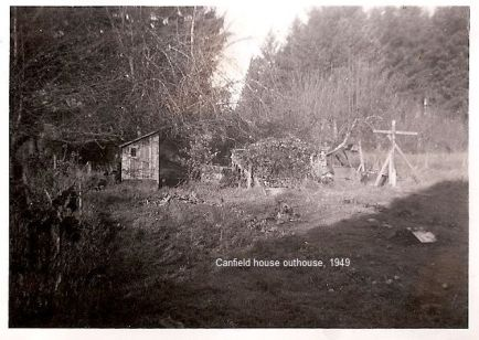 1949 Canfield House outhouse.