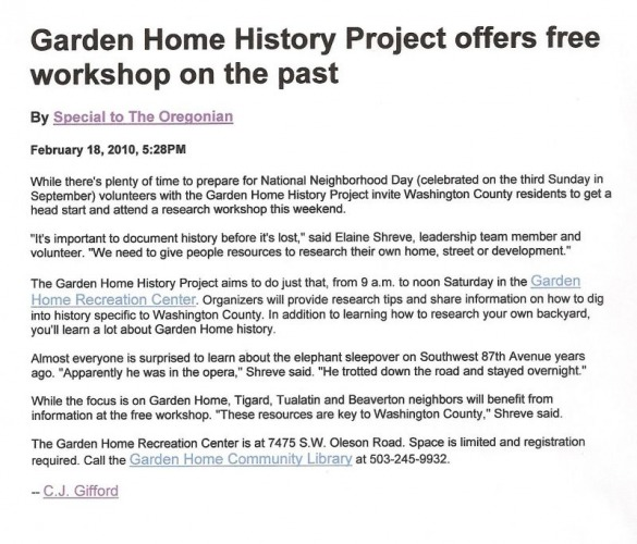 Invitation to the Researching House History event 2010