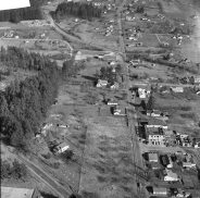 1954 - Aerial photo of site of Lamb's Thriftway - Prior to construction - Arndt Neg 03
