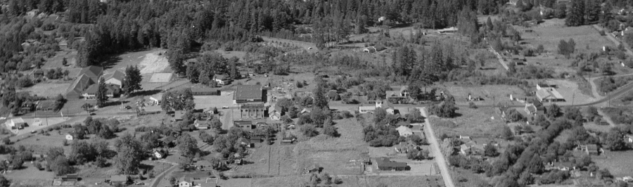 1957 - Aerial photo of Lamb's Thriftway - Newly constructed prior to opening - Arndt Neg 09 detail