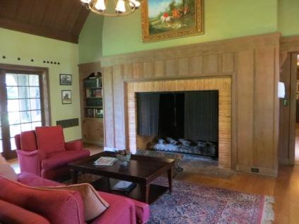 Frank Estate - living room fireplace