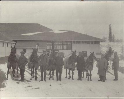 Snow scene at Frank Farm railroad siding