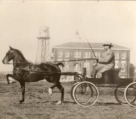 Aaron Frank and horse, circa 1920s