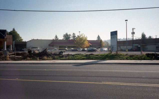 Lambs Thriftway 1995 - new strip mall construction, store built in 1981, prior to expansion