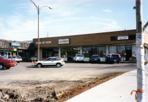 Lambs Thriftway 1995, original strip mall - Crazy About Sports, Uetz's Cleaners, Book Re-View