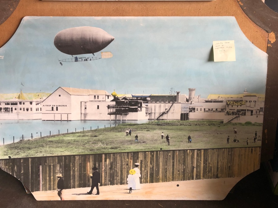 Lambs Thriftway colorized photos 2020 - Airship, Lewis and Clark Centennial