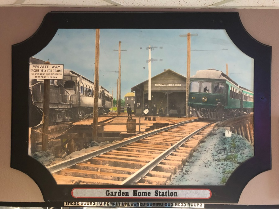 Lambs Thriftway colorized photos 2020 - Garden Home Oregon Electric Train Station, c. 1910