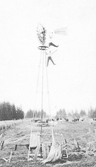 Shattuck Dairy - hanging from windmill, used to pump water