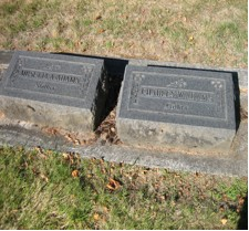Tombstones of Charles and Musetta Adams