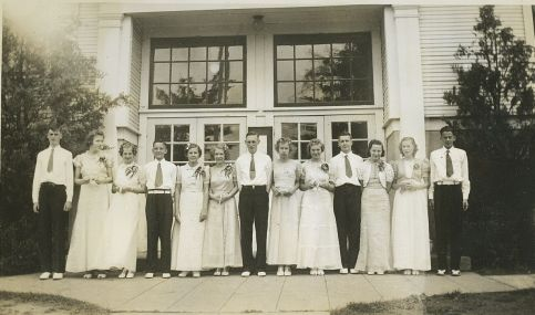 1939 Garden Home School 8th Grade Graduating Class