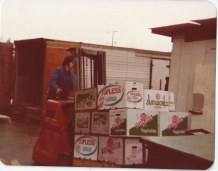 Comella's Produce and Flower Center late 1970s - Forklift