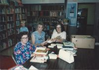 Library 1985 - Catherine Kent, mother of Marie Pacella, Helen Sanford, Patty Bonney