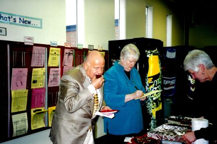 Library 2001 Chocolate Contest judged by Gerry Frank - Leslie Brown, Patsy VandeVenter 2001
