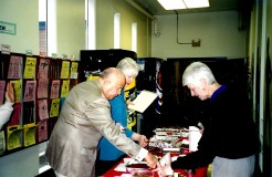Library 2001 Chocolate Contest judged by Gerry Frank - Leslie Brown, Patsy VandeVenter