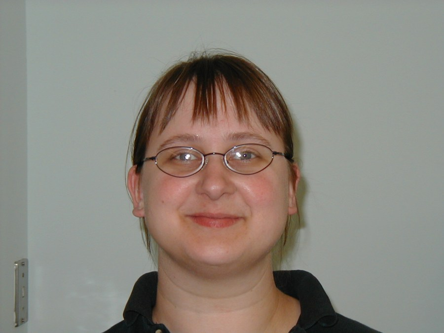 Amanda Goshey, library staff, 2004