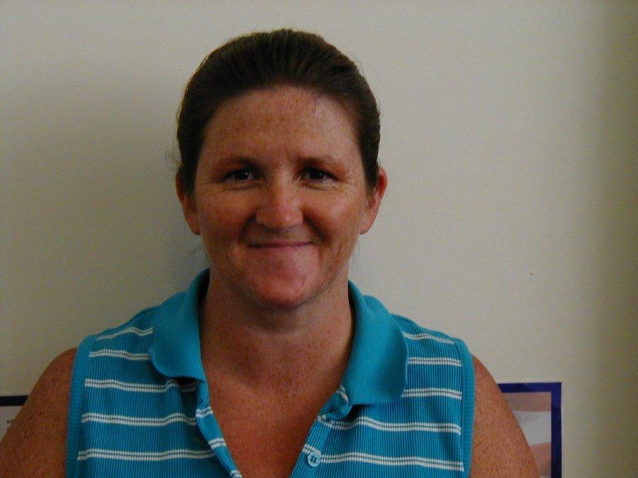 Josephine Thompson, library staff, 2004
