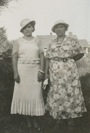 Millie & mother Frances Becvar, 1935