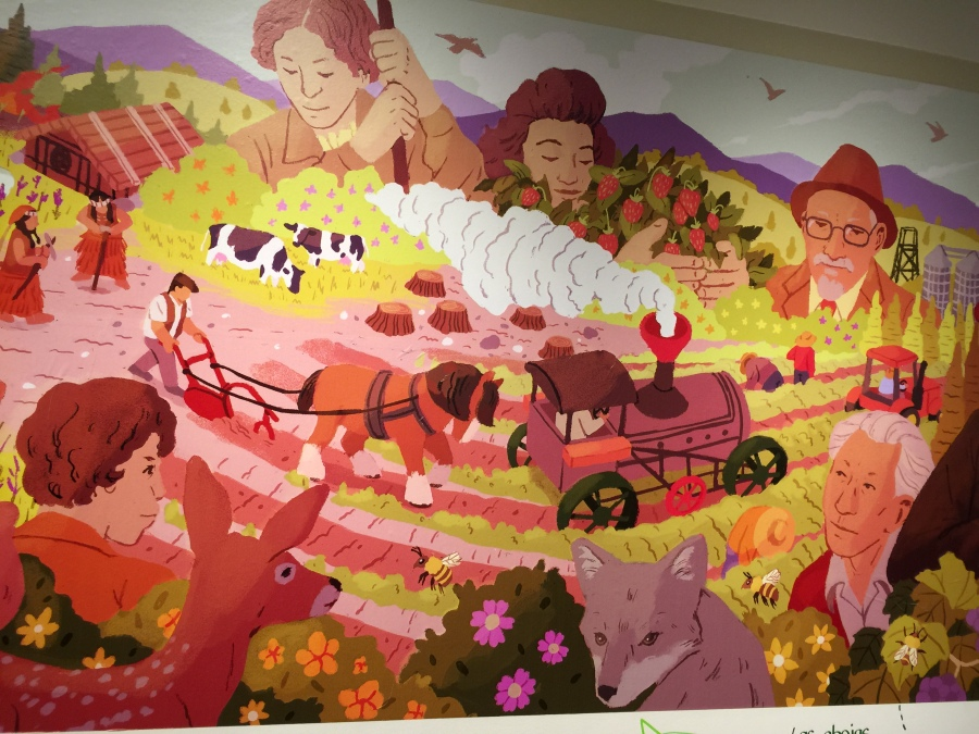 Mural at the Washington County Museum during the Oregon Voices exhibit