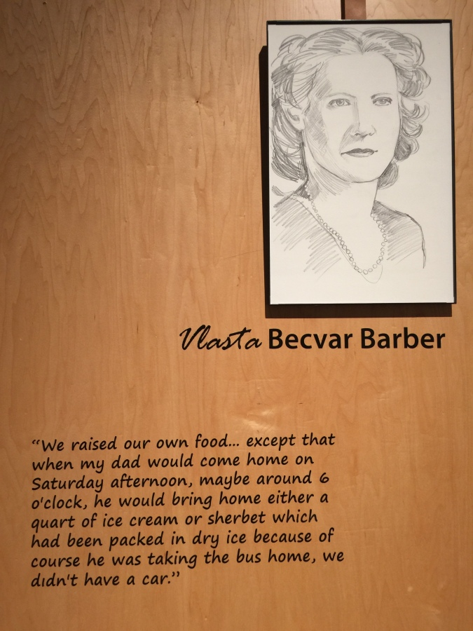 Washington County Museum exhibit featuring Vlasta Becvar's life story, 2018
