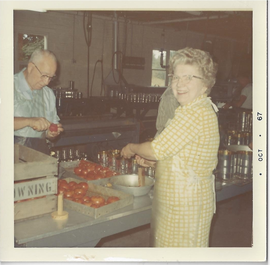 Whitney's Cannery - Canning tomatoes 1967
