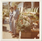 Whitney's Cannery - Mark and Leona Whitney with fresh flowers 1972