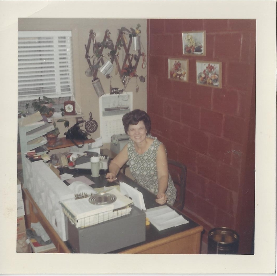 Whitney's Cannery - Office - Leona Whitney at her desk