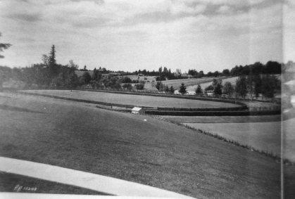 Rolling land around Frank track
