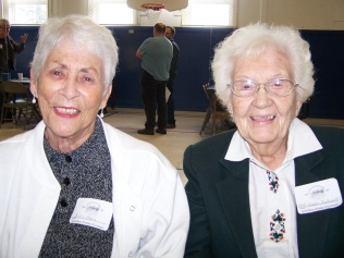 Billie Marx, Bette Waldele attending the Oct 20, 2012 Centennial Celebration of Garden Home School opening