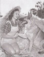 Dorothy Johnson with German Shepard