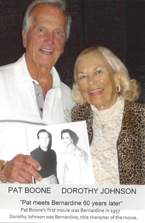 Dorothy Johnson Stevens and Pat Boone - 2017