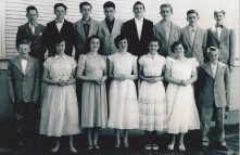 Garden Home School graduating class of 1951, May 23, 1951