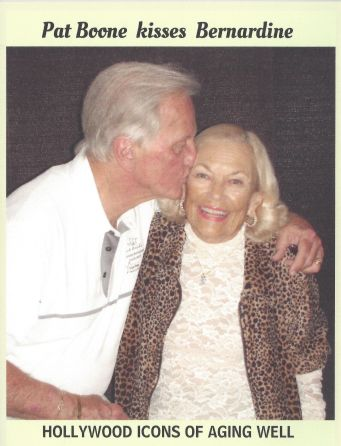 Pat Boone kissing Dorothy Johnson, 2017