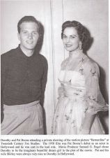 Dorothy Johnson and Pat Boone, 1958