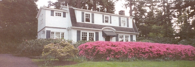 Schanen-Zolling house - pink azalea, Mother's Day 2011