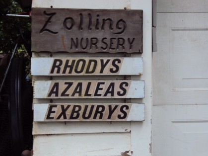 Schanen-Zolling Nursery sign
