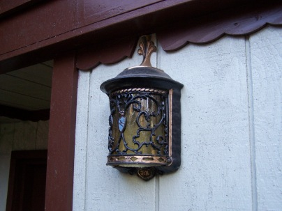 Porshman house - exterior light