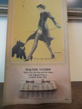 Advert for the Walton Tavern in Garden Home, 1940's