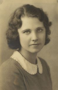 1932 Mary Helen Himes, Lincoln High School graduation.