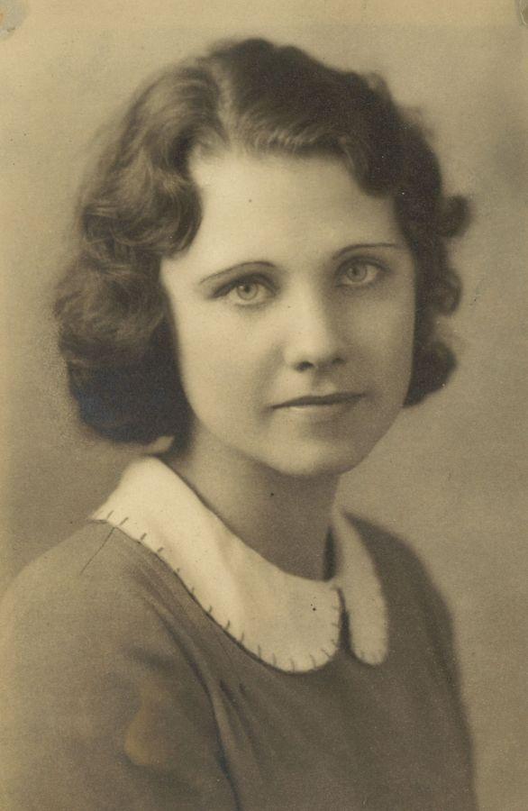 1932 Mary Helen Himes, Lincoln High School graduation.