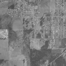 1956 aerial photo of the west end of SW Garden Home Road as it turns north into SW 92nd Ave.