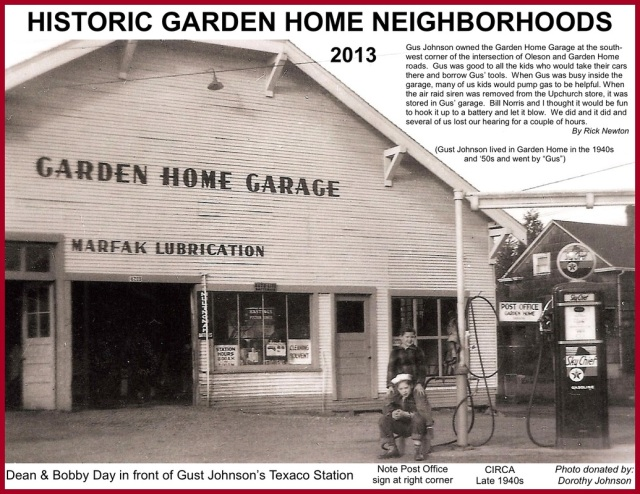 2013 Historic Garden Home Neighborhoods Calendar