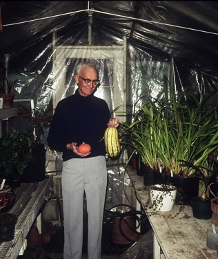 Allen Shirley in greenhouse