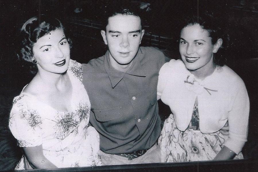 Gwen Berry, Jim Bastien and Dorothy Johnson (in highschool)