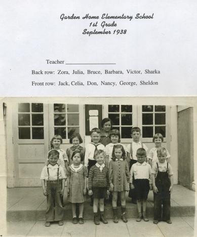 1938 Garden Home School 1st grade