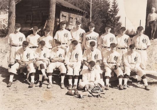 1935 or 1936 Garden Home baseball team of the Sunset League