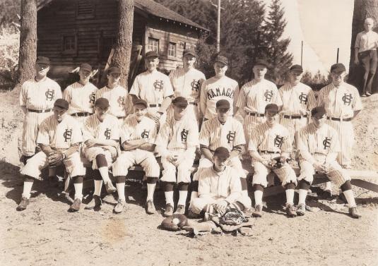 Baseball team: 1935 or ' 36, Garden Home Team of the Sunset League.