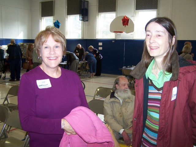 Marilyn McMullin Korvola and Shirley Dickson at Garden Home School Centennial, Oct. 2012