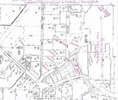 Portland Hunt Club neighborhood plot map