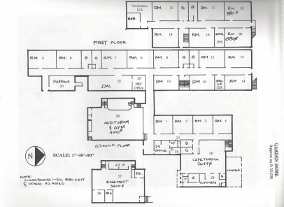 1983 Garden Home School floorplan diagram