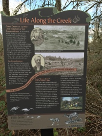 Fanno Creek trail sign - Life along the creek